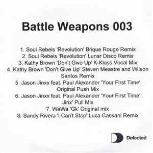Various - Battle Weapons 003 album FLAC